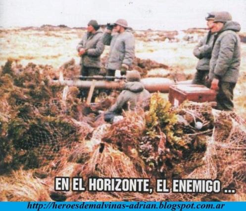 guerra de malvinas-1982- cañón sin retroceso 105mm