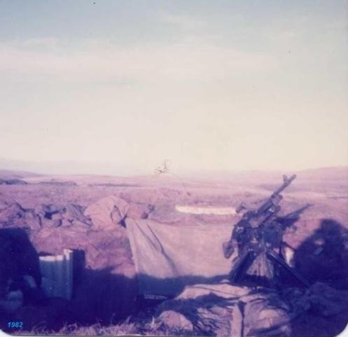guerra de malvinas-1982-posición del regimiento 12