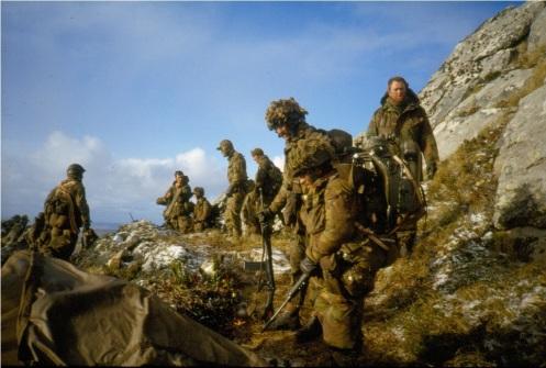 Guerra de malvinas 1982-tropas britanicas