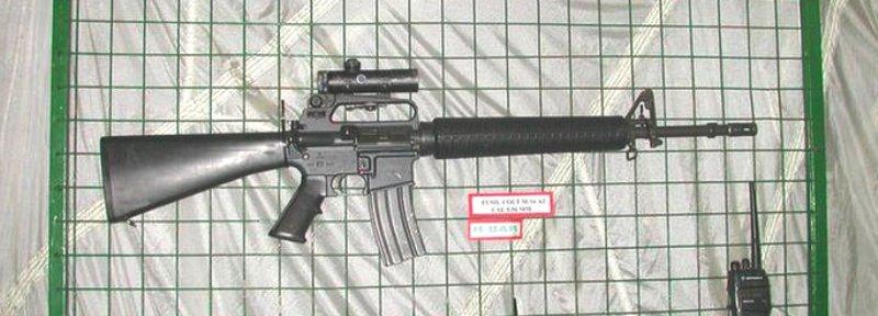 Cascos Azules brindaron seguridad al presidente haitiano M16a2-s