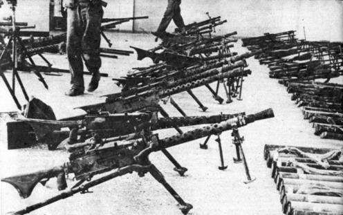 armas capturadas en Bahia de Cochinos
