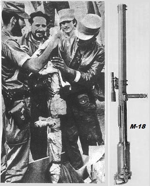 armas capturadas M18 CAPTURADO GIRON