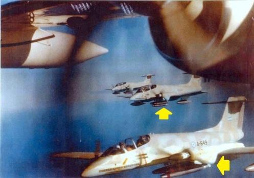 bombas de napalm pucara fg