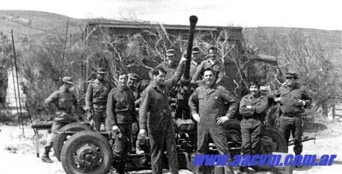 Movilización hacia el SUR 1978 bofors L60-40MM