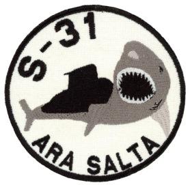 AA - Flota de Mar - Submarino Clase 209-1200 A.R.A. Salta (S-31) (SUSA) (blanco)