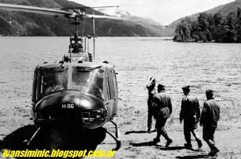 Bell UH-1H H-86 de la FACh, participó en el rescate de los cadáveres