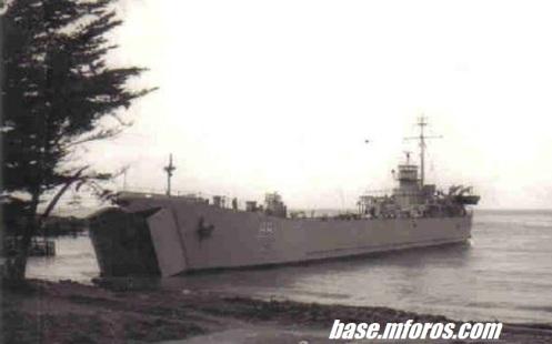 LST-88 Hemmerdinger,varada en Archipielago de Juan Fernandez
