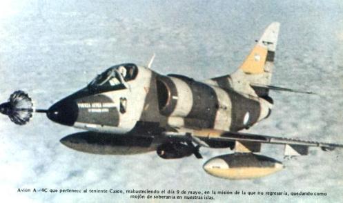 Bombas en la guerra de malvinas Casco