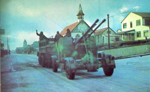 guerra de malvinas Puerto Argentino1982