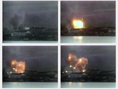 Bombas en la guerra de malvinas Ayax-bay