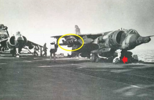 harrier accidente malvinas 1982.