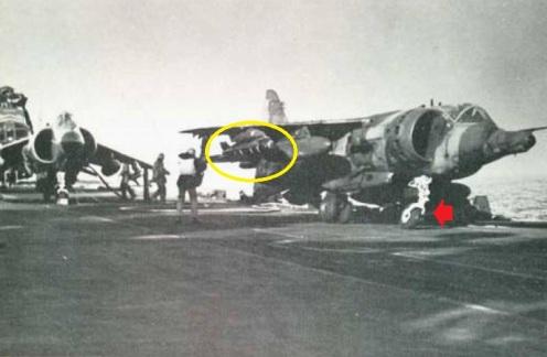 harrier accidente malvinas 1982.