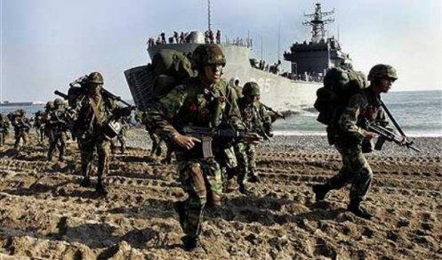 desembarco practicas corea el sur