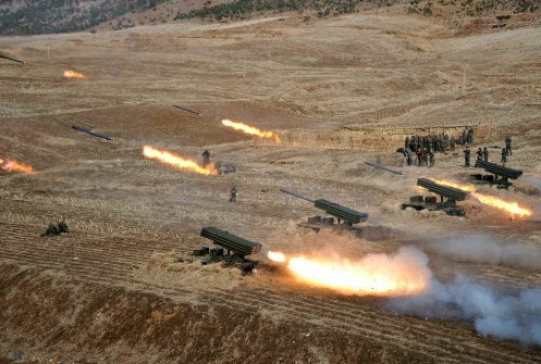 The The Democratic People's Republic of Korea (DPRK Artillery Live Fire Exercise (7)