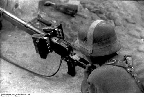 Russland-Nord, Soldat mit Panzerbüchse