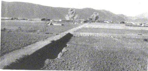 Alrededores del puesto y Tiliuin a la derecha, donde se ve el bombardeo para preparar el famoso salto de Tiliuin.( Prieto Villota).