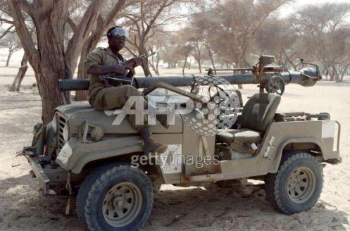 cañón sin retrocesoM40 jeep chad libia