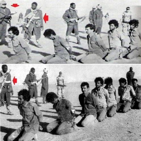 prisioneros libios en ek chad .guerra de los toyota 1986-1987.