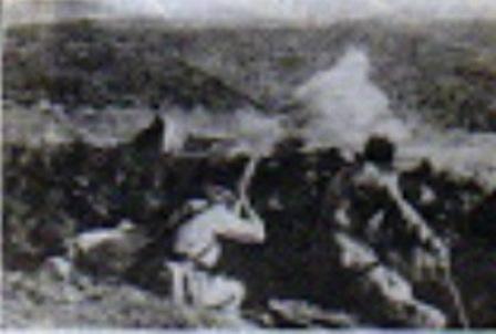 tiradores de Ifni en combate.
