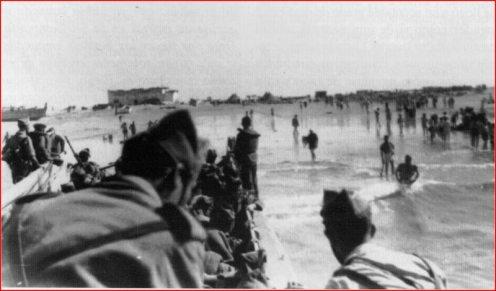 tropas españolas en las playas de Ifni