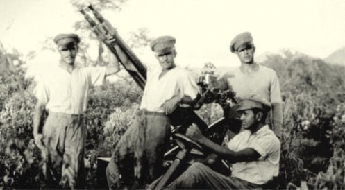 armas guerra del chaco -artilleros bolivianos