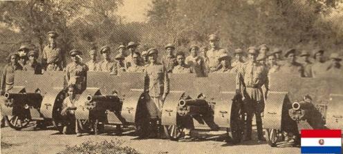 artillería paraguaya schneider 75mm gee