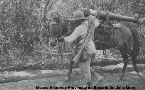 cañon 75mm guerra del chaco 32-35 ss