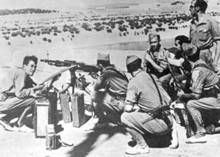 guerra de IFNI ametralladoras Hotchkiss