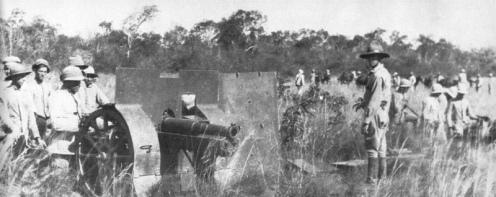 guerra del chaco-cañon 75mm