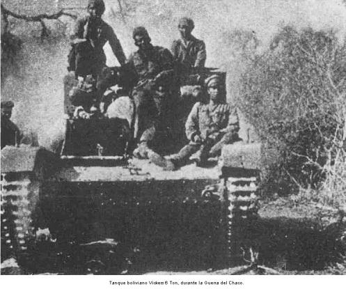 guerra del chaco-tanque vickers