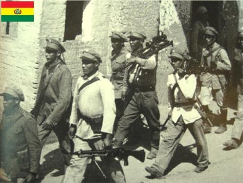 guerra del chaco-tropas bolivianas hacia el combate.