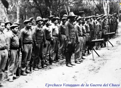 guerra del chaco-tropas paraguayas en formacion