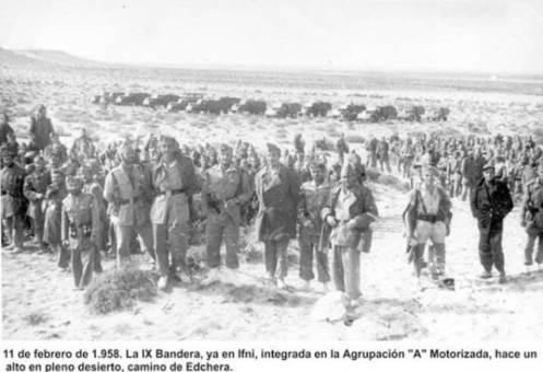 IX Bandera camino a Edchera guerra de Ifni