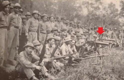 soldados paraguayos ametralladora. Browning 1917