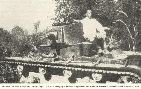 Vickers capturado guerra del chaco