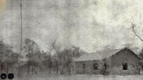 Casas del fortín Boquerón antes de la batalla (Foto Maas)