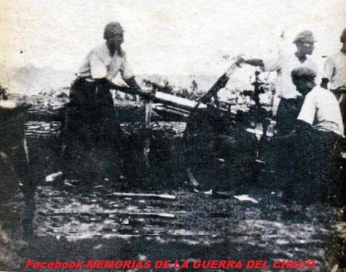 guerra del chaco-artilleros bolivianos sT