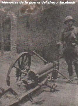 guerra del chaco -cañón boliviano averiado s