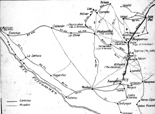 mapa-guerra del chaco- kilometro 7
