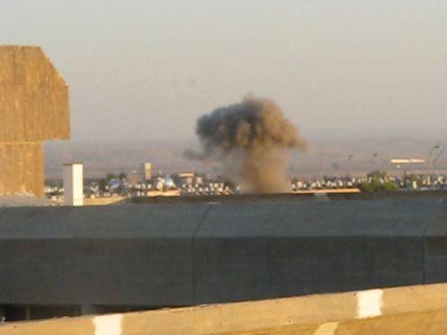 Cohete Grad golpea Beersheba , 2009.
