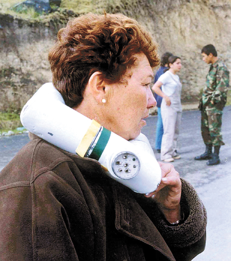 COLOMBIA-COLLAR EXPLOSIVO-GUERRILLA