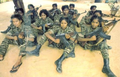 niñas soldado Tamil