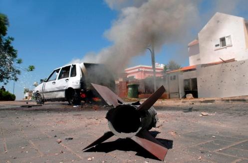 Israel - Palestinian Kassam rocket in Sderot