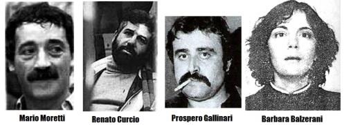 terroristas de las brigadas rojas