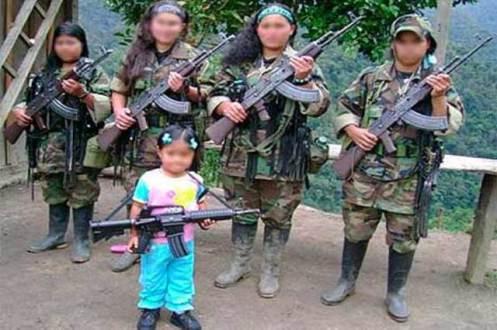niños soldado del FARC