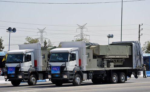 TEL para misiles Noor  Qader. El TEL se puede disfrazar como un camión civil.