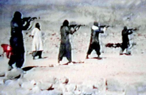 A video grab dated 19 June 2001 shows members of S