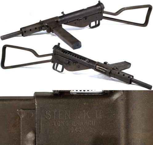 CANADIAN MKII STEN SUBMACHINE GUN.
