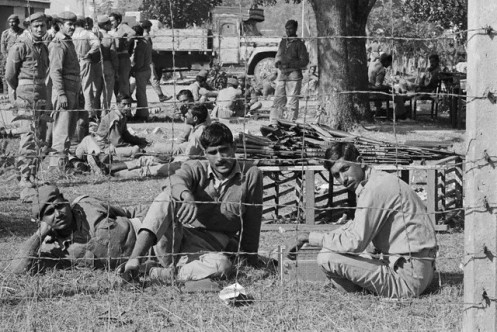 Pakistani Prisoners of War at Prison Camp in Bangladesh
