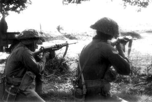 Indian soldiers in action during the 1971 war32